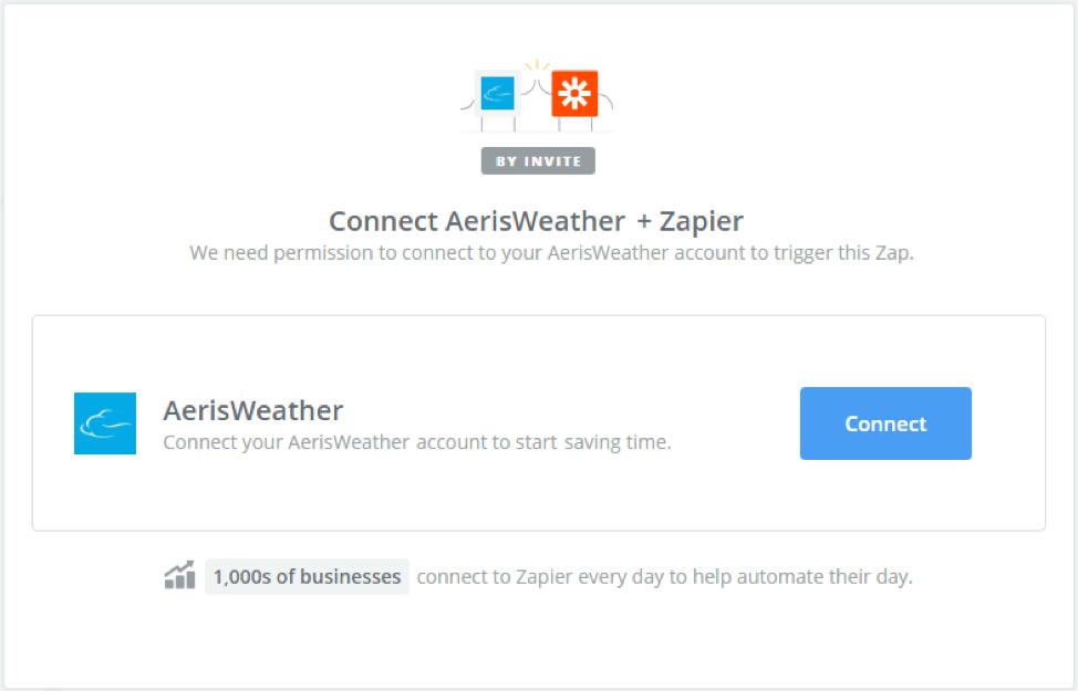 Connect AerisWeather + Zapier